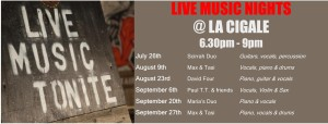 LIVE MUSIC DATES part 2