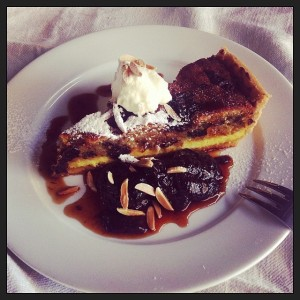 almond & prune tart