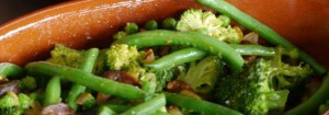 Green Vegetables with Chorizo