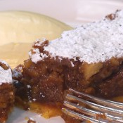 Wild honey and walnut tart