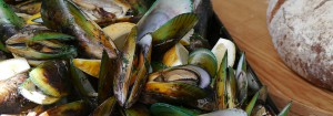 Mussels in pastis and garlic