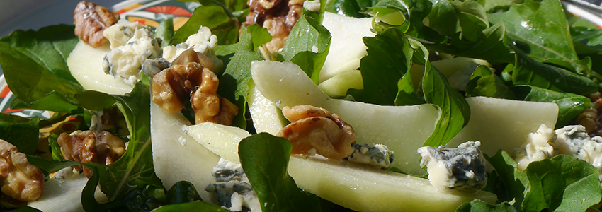 Pear, Walnut and Roquefort Salad