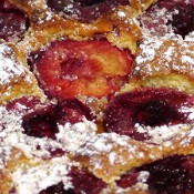 Sour Cream Plum Cake