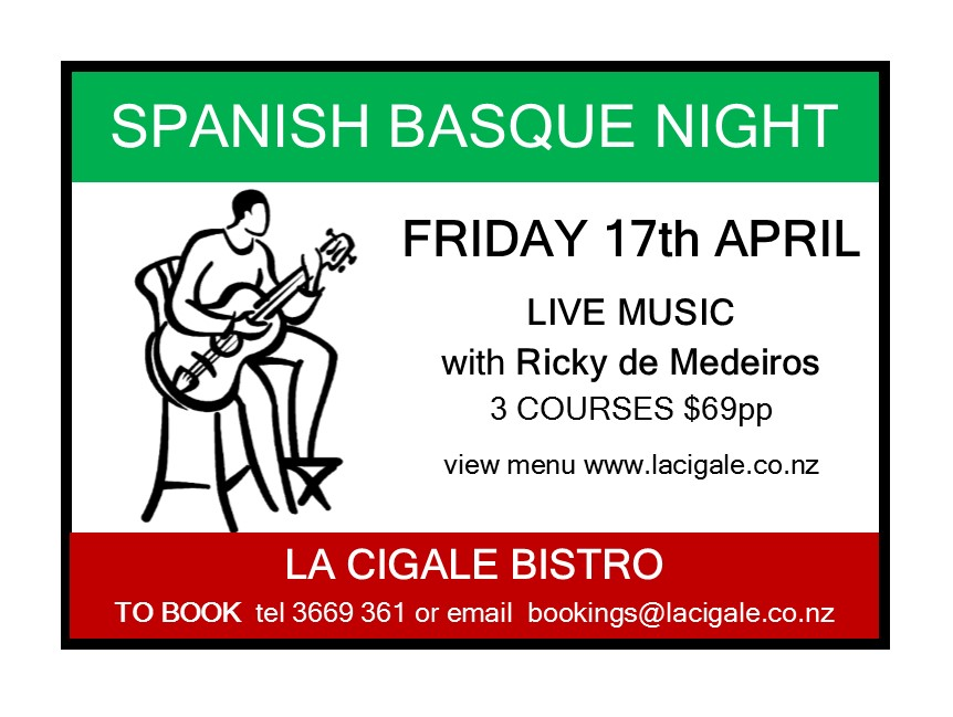 viva 15 APRIL spanish basque night