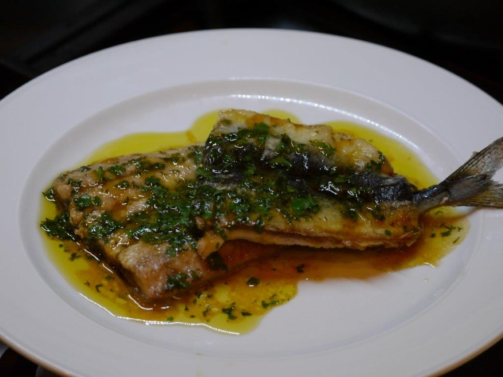 Recipe - sanma with orange vinaigrette