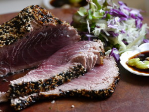 Sesame coated tuna 1