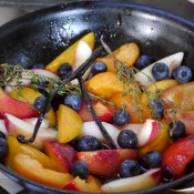 panfried summer fruit