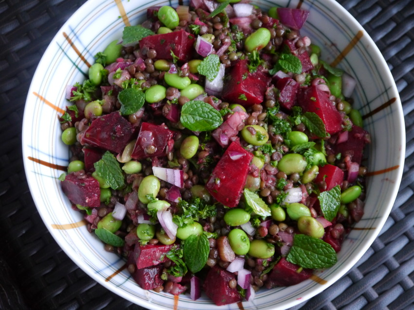 Lentil and Beetroot salad