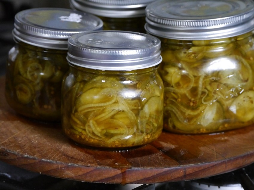Bread and butter pickles - last photo!
