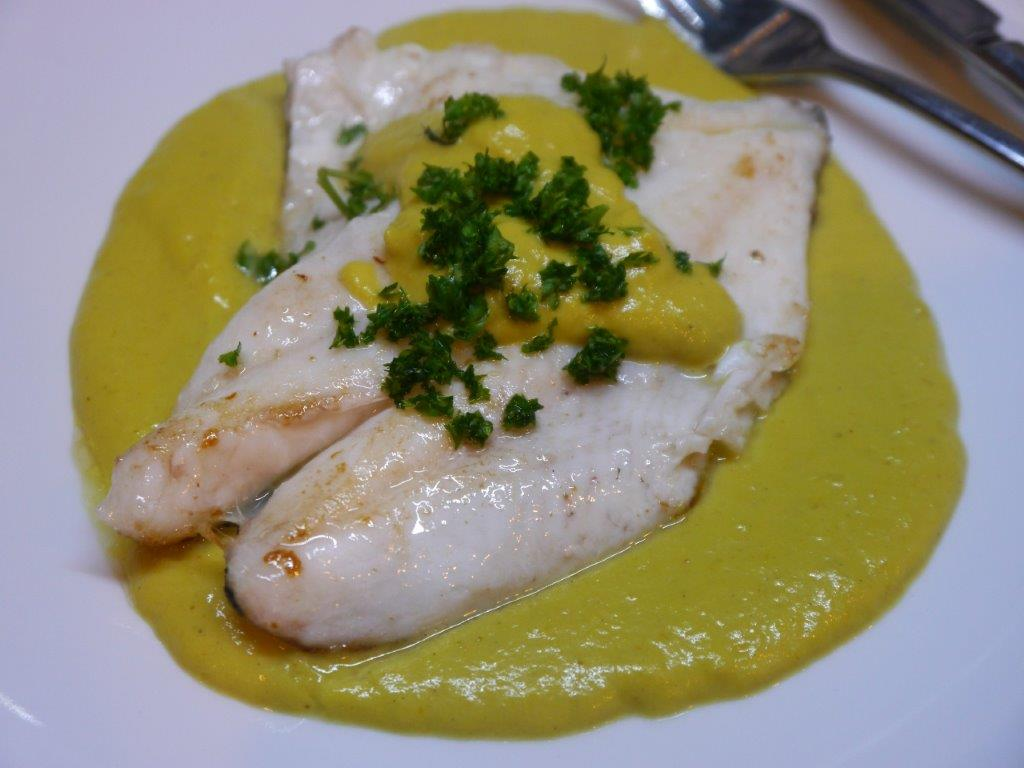 Pan fried john dory with leek curry sauce la cigale for John dory recipe